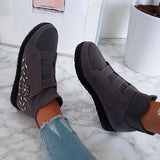 Jolimall Fashion Stylish Embellished Slip On Sneakers
