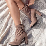 Jolimall Adjustable Drawstring Ankle Booties