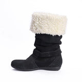 Jolimall Winter Shoes Fur Warm Snow Buckle Straps Boots(Ship In 24 Hours)