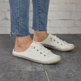 Jolimall Relaxed Slip-On Fit Easy Going White Sneakers(Ship In 24 Hours)