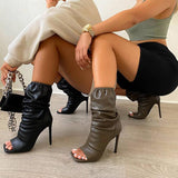 Jolimall Elastic Pleated Boots