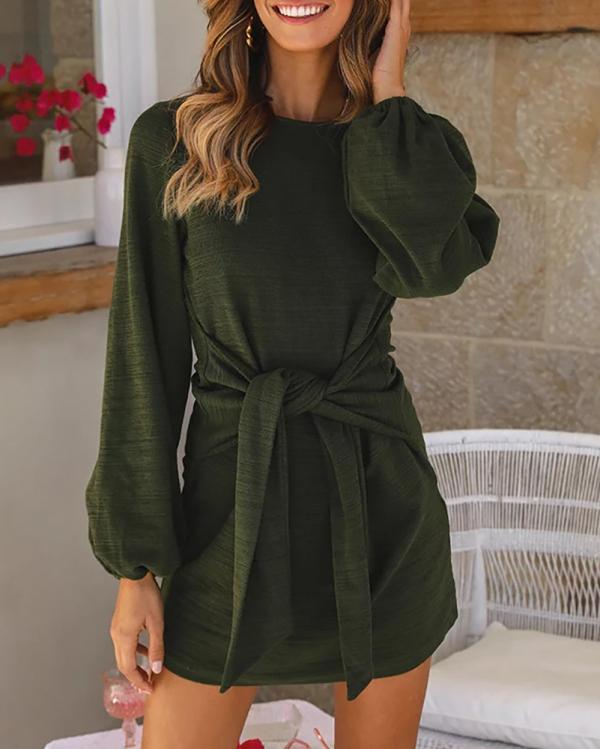 Jolimall Long-sleeved Short Dress