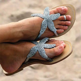 Jolimall Women Starfish Beach Flat Sandals