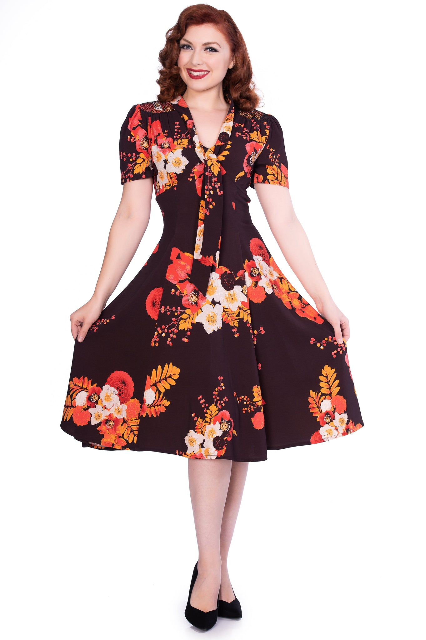 Izzy Burgandy Floral Dress