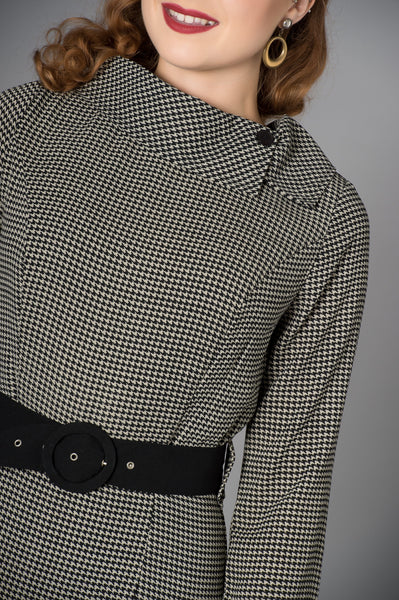 Lucinda Fitted Dogtooth Dress