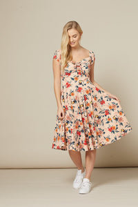 off-shoulder-floral-swing-dress
