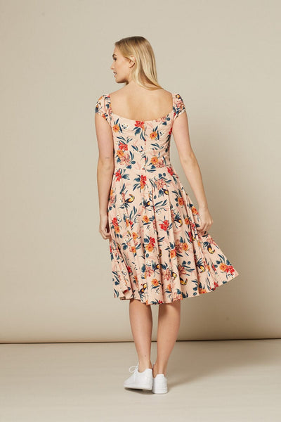 off-shoulder-floral-swing-dress-back