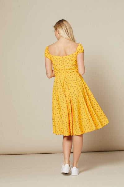 serenity-yellow-dainty-floral-swing-dress