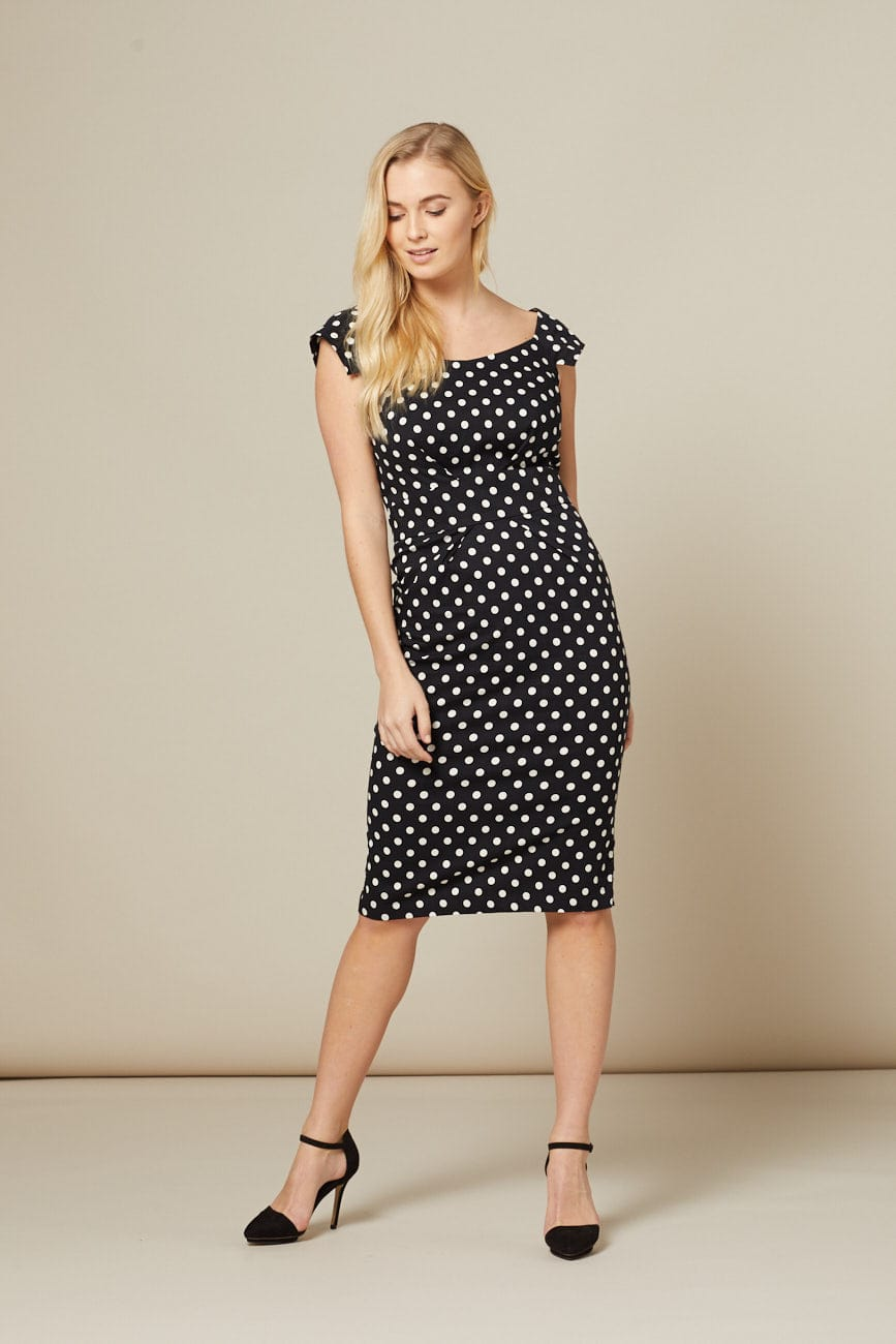 black-and-white-polka-dot-dress