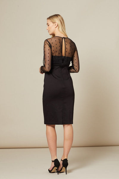 black-dress-with-mesh-sleeve-details