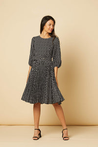 Isabelle Polka Dot Dress Black