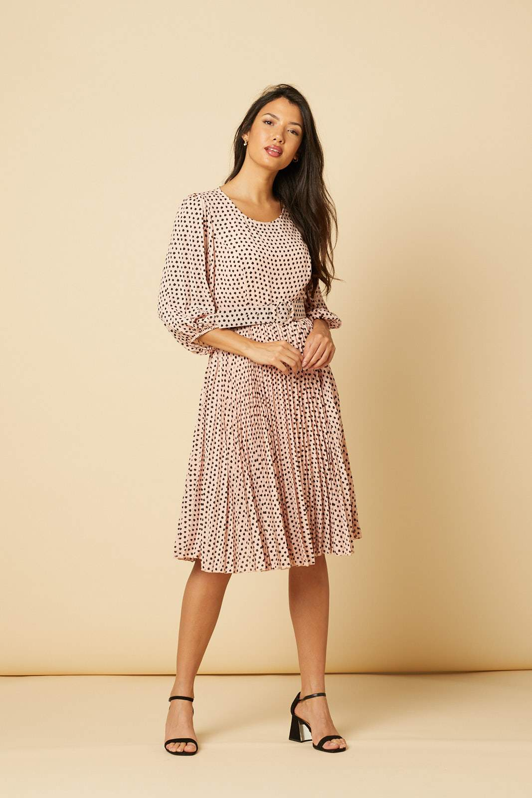 Isabelle Polka Dot Dress Pink