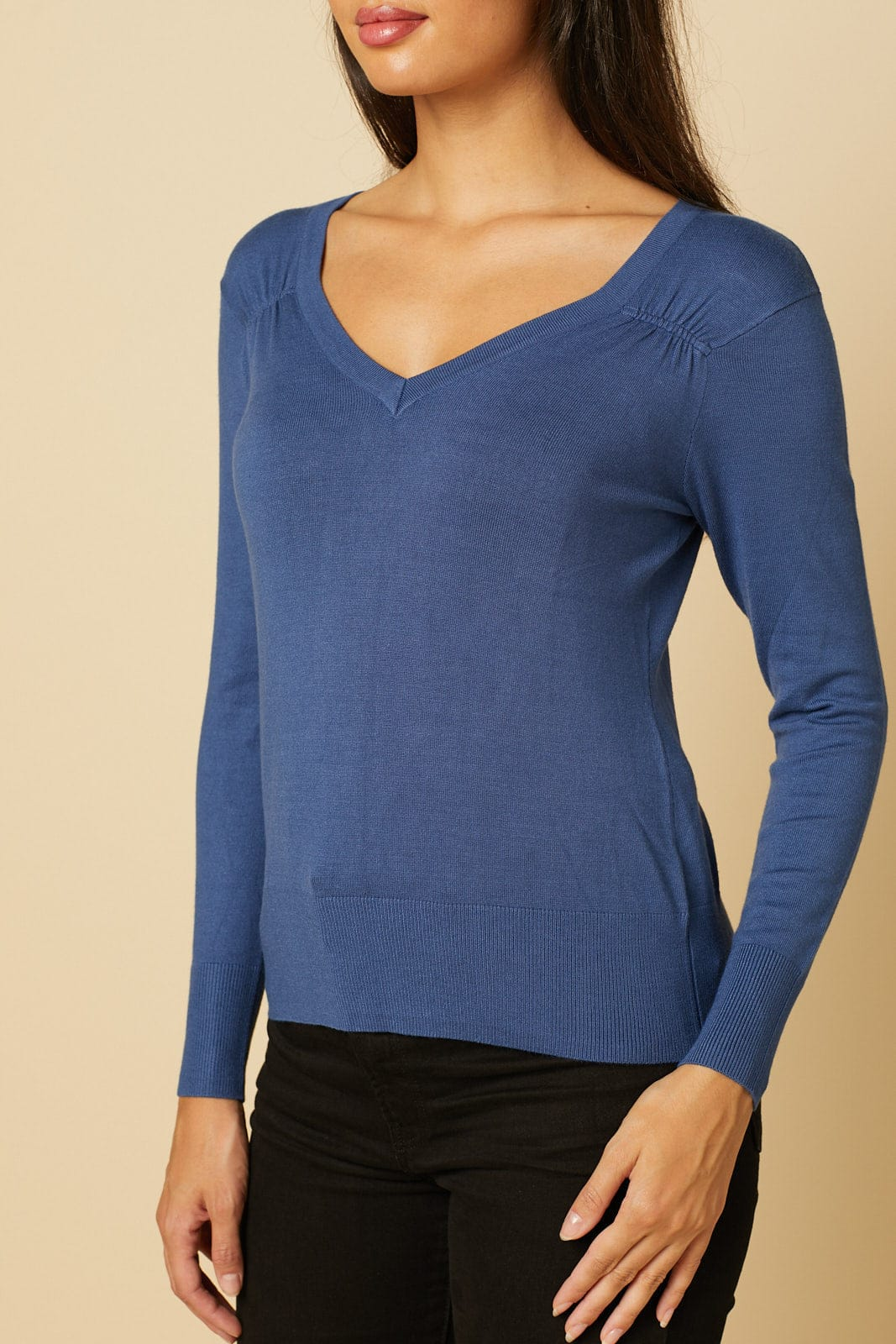 Moroccan Blue Long Sleeve Sweater