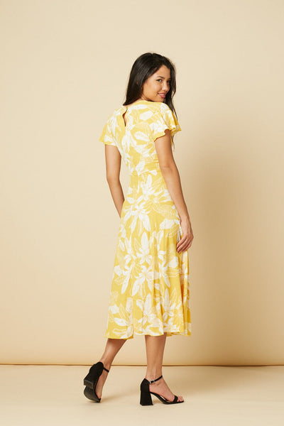 Harper Yellow Floral Straight Dress