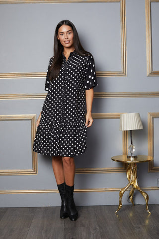 Penelope Polka Dot Shirt Dress