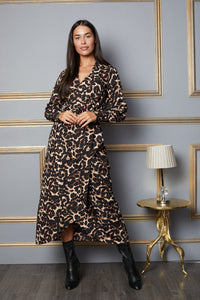 Lola Leopard Print Wrap Dress