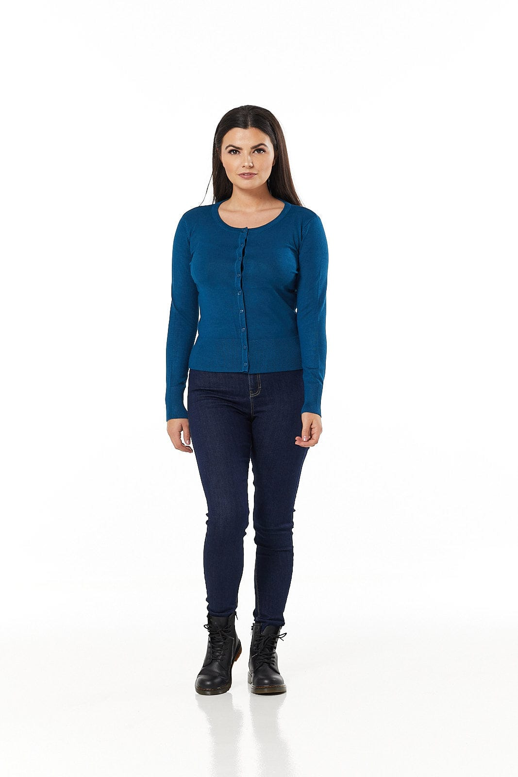 Midnight Blue 9 button Cardigan