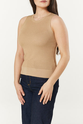 Bailey Camel Knitted Top