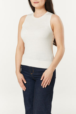 Bailey White Knitted Top