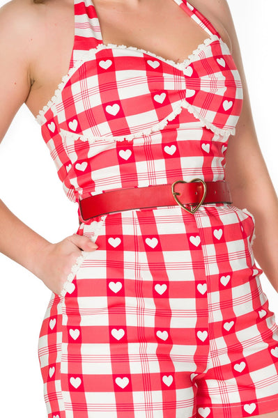 Red and White and Heartbreaker Playsuit