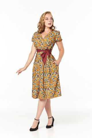 Libby fifties' Floral Dress