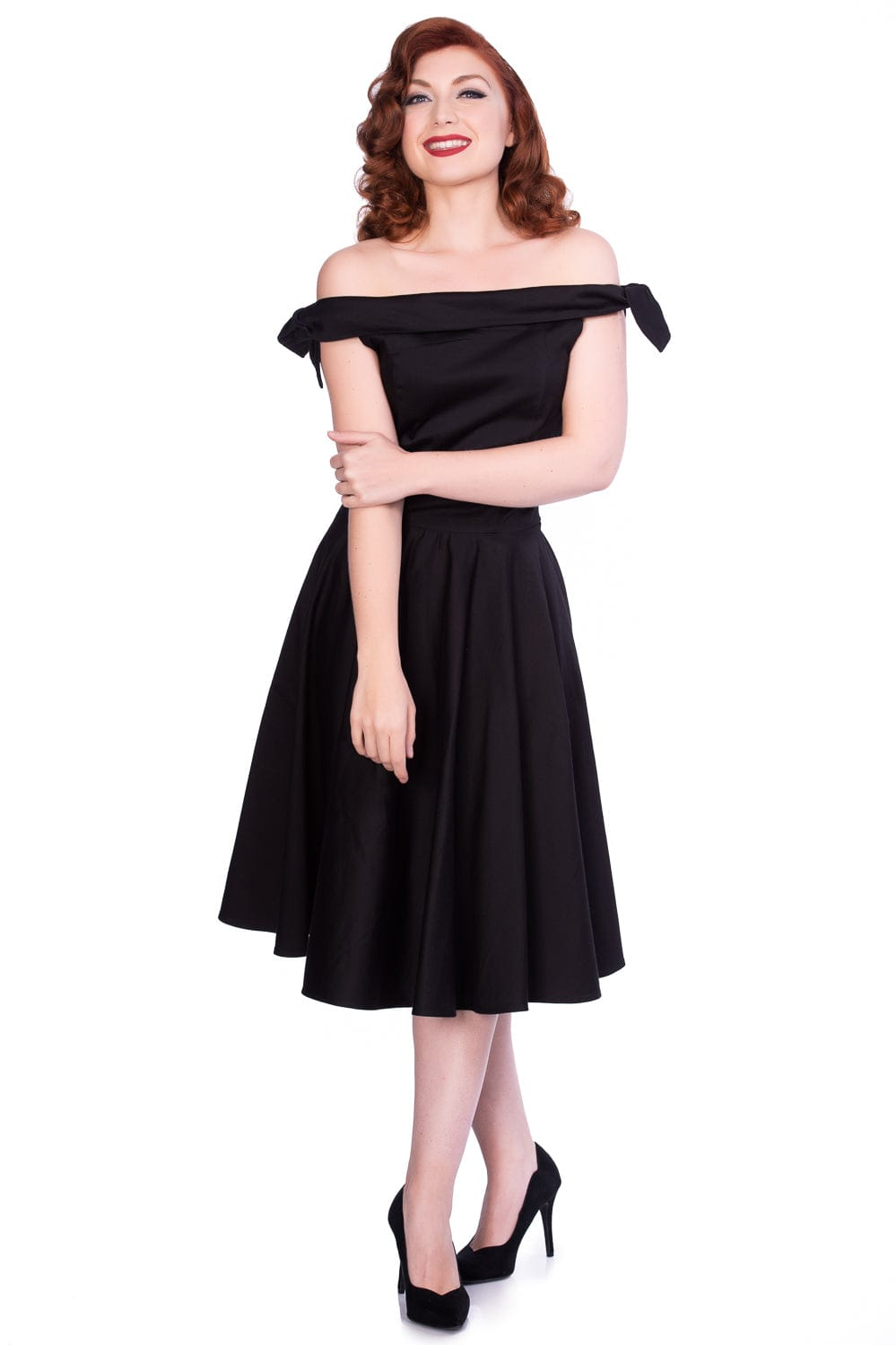 mona-black-off-shoulder-dress