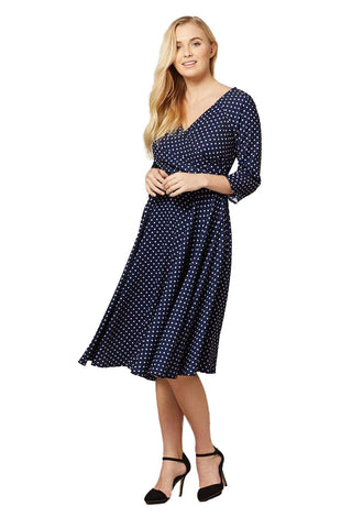 Katherine Midi Polka Dot Dress