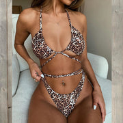 Sexy leopard one piece swimsuit