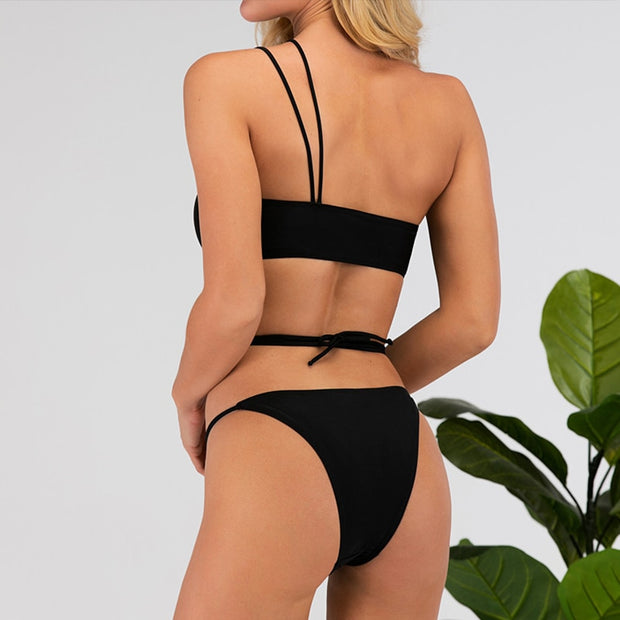 Women Sexy one shoulder bikinis