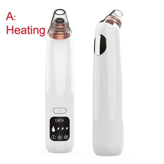 Heating Blackhead Remover Vacuum Pore Cleaner Electric Nose Face Deep Suction Cleansing Skin Care Machine Tool Acne Extractor