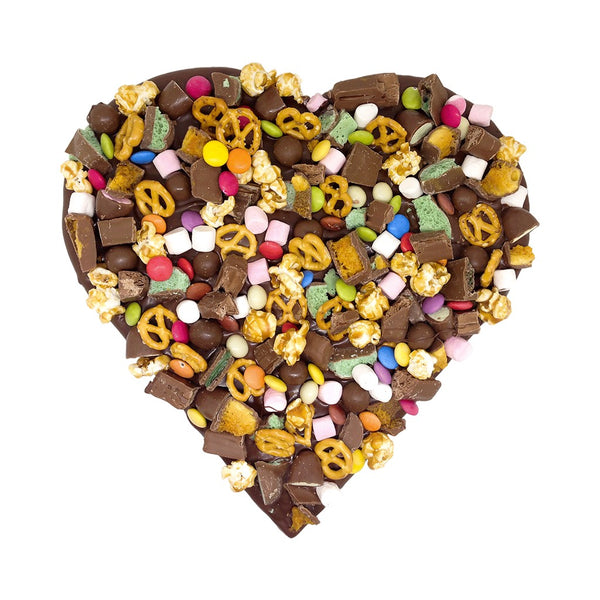 Giant Indulgence Hearts Choc Treats Cookie - Memory Lane Cookies