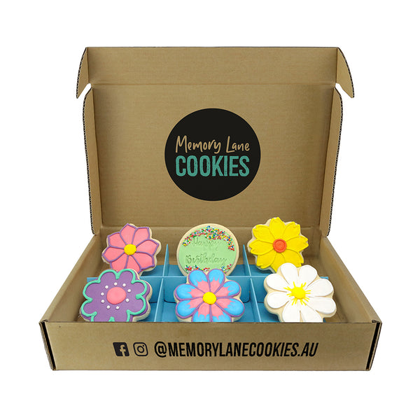 Birthday Flower Gift Box - Memory Lane Cookies