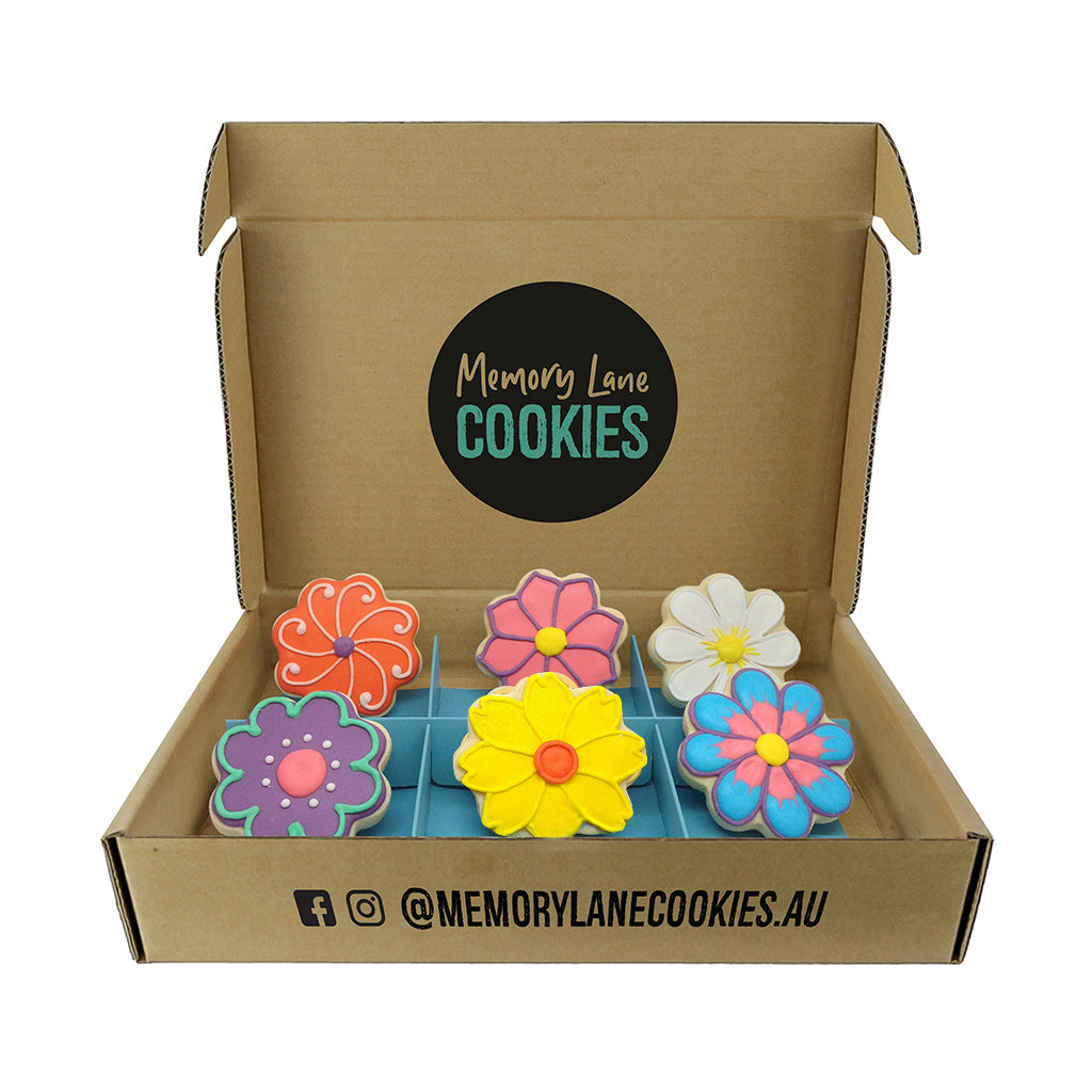 Thinking of You Flower Gift Box - Memory Lane Cookies