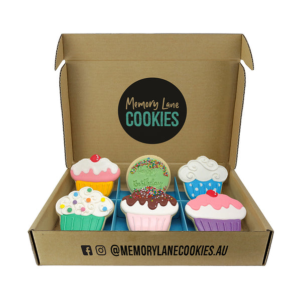 Birthday Cupcake Gift Box - Memory Lane Cookies