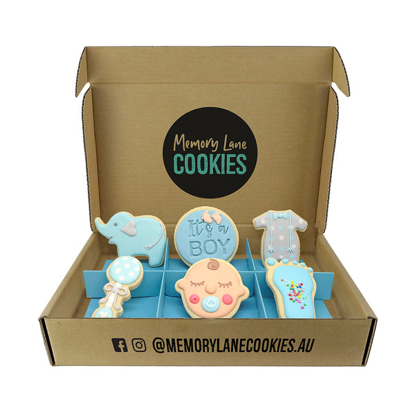 Baby Boy Gift Box - Memory Lane Cookies