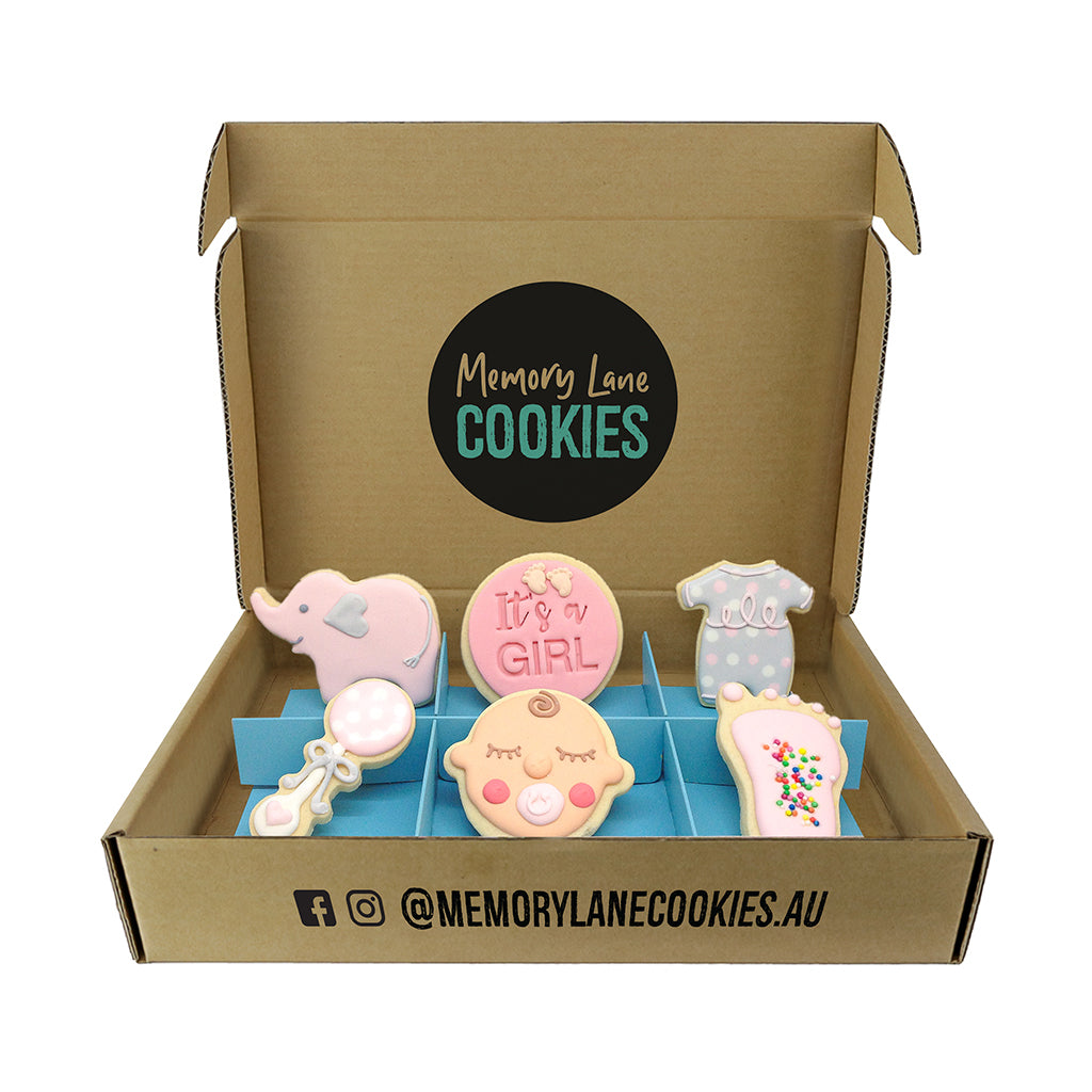 Baby Girl Cookie Gift Box - Memory Lane Cookies