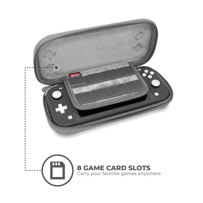 Ultra Slim Nintendo Switch Lite Protective Carrying Case (Grey) - StreamLite