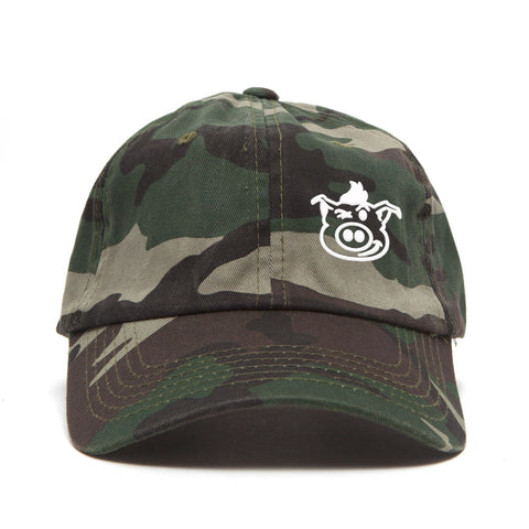 Pig Face Dad Hat - Camo/White