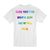Breathe Slow Tee - White / Multi