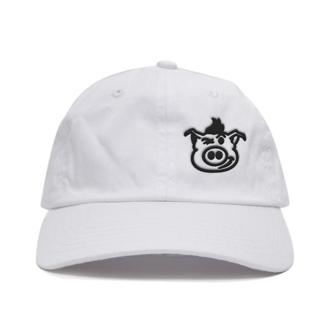 Pig Face Dad Hat - White/Black