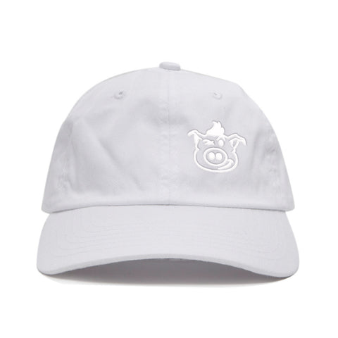 Pig Face Dad Hat - White/White