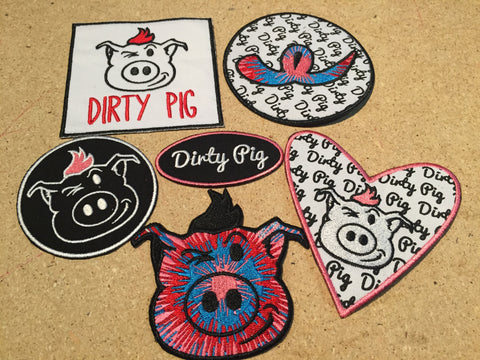 Set of Dirty Pig Patches