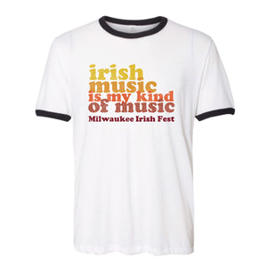 Milwaukee Irish Fest Unisex Irish Music Retro T-Shirt