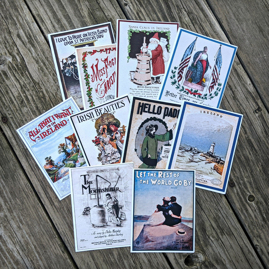 Ward Irish Music Archives Sheet Music Cards Collection Set