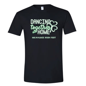 Milwaukee Irish Fest Dancing Together At Home Black Youth & Adult T-Shirt