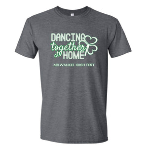Milwaukee Irish Fest Dancing Together At Home Grey Youth & Adult T-Shirt