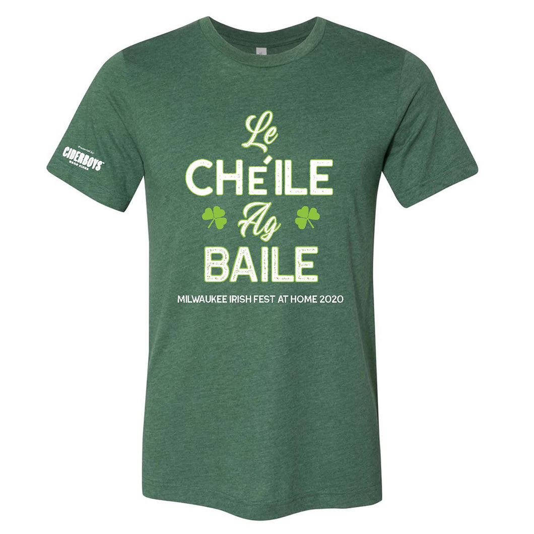 Milwaukee Irish Fest Le Cheile Grass Green Adult & Youth T-Shirt