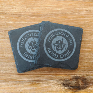 Milwaukee Irish Fest Slate Coasters - Set of Two