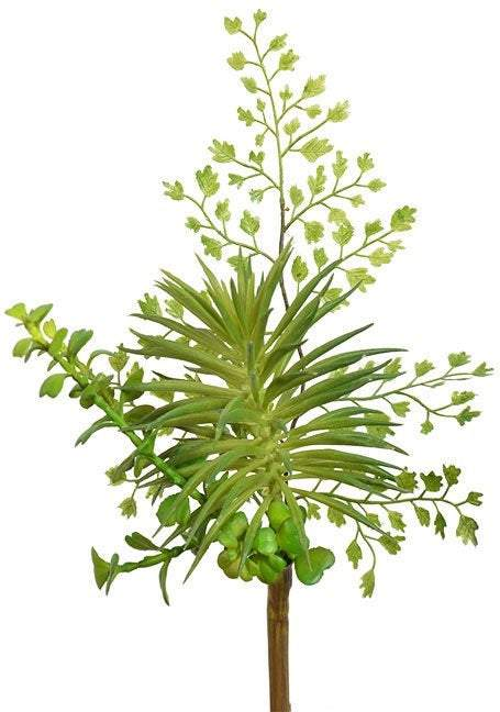 Artificial succulent, faux succulent decor, mixed Greenery fern, succulent stem, fake succulent, succulent gifts, favors for weddings