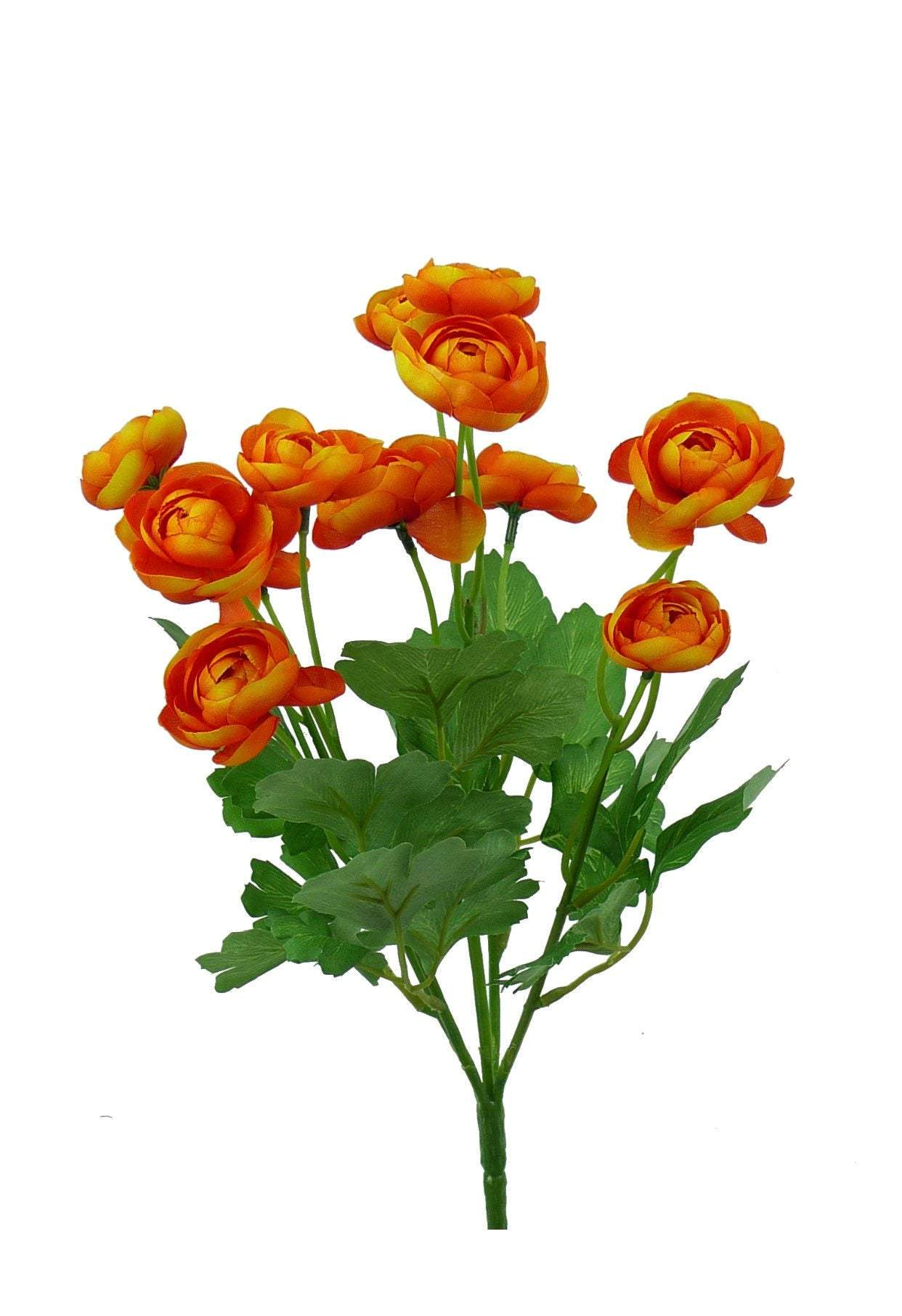 Artificial Ranunculus bush, silk flowers, flower bush, filler flowers, silk flower bush, fake ranunculus, artificial flowers, wedding floral